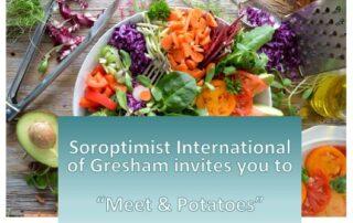 Meet & Potatoes flyer